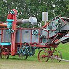 Old Threshing Machine. by MaeBelle