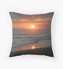 Tropical Bali Sunset Throw Pillow