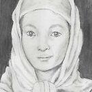 Afghan School Girl by redqueenself