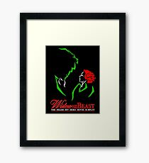 Widow and the Beast Framed Print