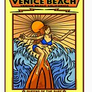 SURFING VENICE BEACH CALIFORNIA QUEENS OF THE SURF by Larry Butterworth