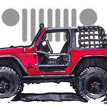 JK Wrangler Topless 2dr - Red by robert1117