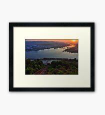 The confluence HDR Framed Print