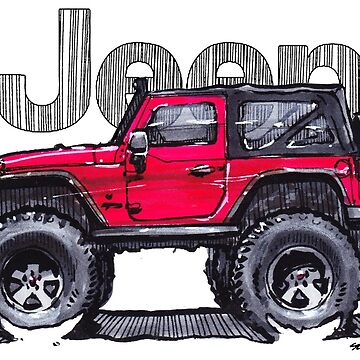 JK Wrangler Lifted 2dr - Red by robert1117