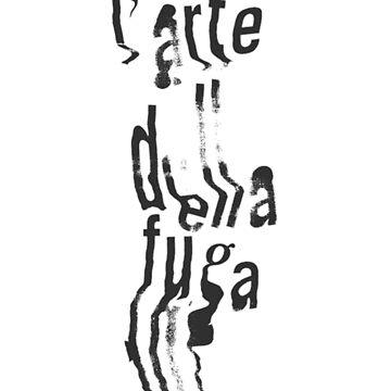 L'arte Della Fuga Typography by nekhebit