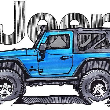 JK Wrangler 2dr - Blue by robert1117