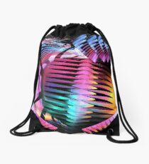 Inner Strength, abstract fractal wallart Drawstring Bag