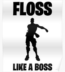 Floss Like A Boss Dance Emote Celebration Fortnite Poster