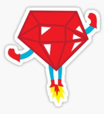Ruby power Sticker