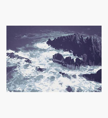 Ocean with Rocks and Waves Photographic Print