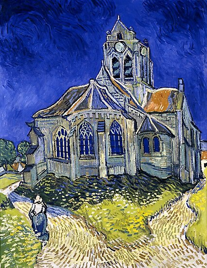 The church in Auvers-sur-Oise, view from the Chevet by Igor Drondin