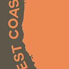 West Coast - Crusta Orange on Judge Grey Brown by Serge Averbukh