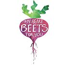 My heart BEETS for you - funny pun design by hitechmom