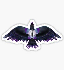 Crow and a Butterfly Sticker