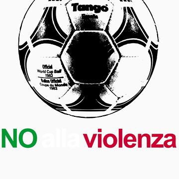 A Casual Classic iconic No Alla Violenza inspired t-shirt design by dylanmccarthy