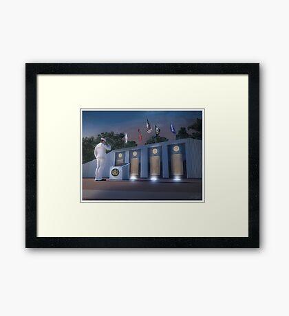 EOD Memorial Framed Print