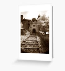 Chinon Castle Greeting Card