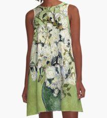 Vase of Roses A-Line Dress