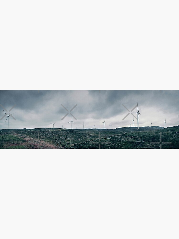 Landscape Panorama with Wind Turbines by BethsdaleArt