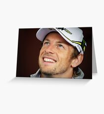 Jenson Button Greeting Card
