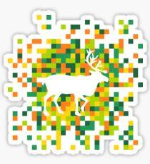 Moose in the square Sticker
