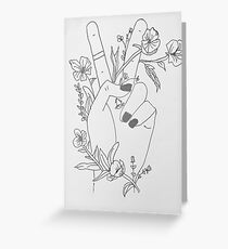 Peace Sign and Flowers Greeting Card