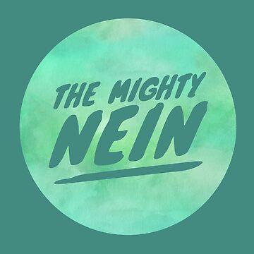 Mighty Nein Retro Logo- Sea Green by JMendezArt
