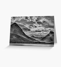 Glacier National Park in Black and White Greeting Card
