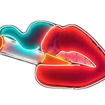Cigarrillo de neón en labios de hcross214