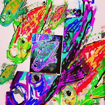 ABSTRACT COLLAGE FISH  by Kater