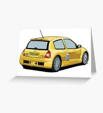 Clio V6 Greeting Card