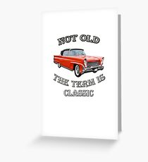 Classic Vintage Cars Design Great for Birthday or Retirement Gift, Funny Not Old Automobiles, 1958 Lincoln Continental Capri Convertible Designed Products Greeting Card