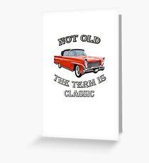 Klassischer Weinlese-Auto-Entwurf groß für Geburtstags- oder Ruhestands-Geschenk, lustige nicht alte Automobile, 1958 entworfene Produkte Lincolns kontinentales Capri Convertible Grußkarte