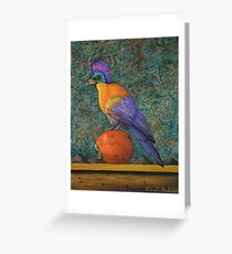 Turaco On A Persimmon Greeting Card
