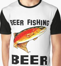 Beer Fishing Yellowstone Cutthroat Trout Rocky Mountains Fish Char Jackie Carpenter Art Gift Father Dad Husband Wife Best Seller Graphic T-Shirt