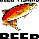 Beer Fishing Yellowstone Cutthroat Trout Rocky Mountains Fish Char Jackie Carpenter Art Gift Father Dad Husband Wife Best Seller by Jackie Carpenter