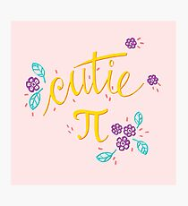 Cutie Pi (Pink) Photographic Print