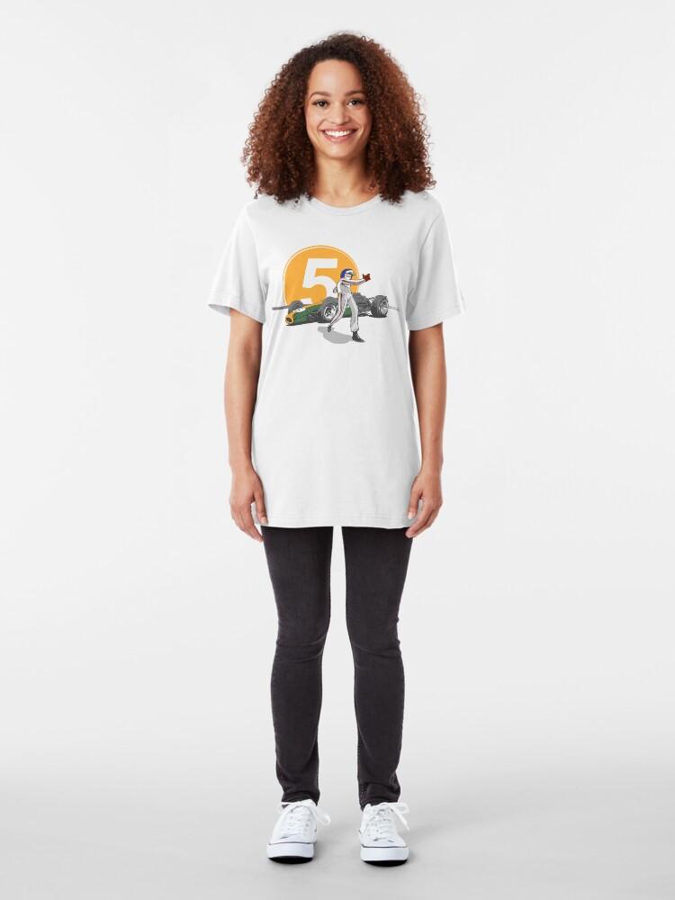 Alternate view of Speed Racer - Jim Clark Slim Fit T-Shirt