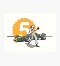 Speed Racer - Jim Clark Art Print