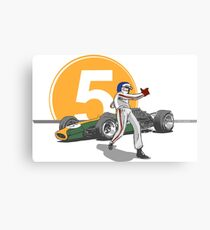 Speed Racer - Jim Clark Canvas Print