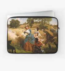 Mrs. Schuyler Burning Her Wheat Fields on the Approach of the British Laptop Sleeve