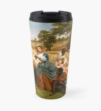 Mrs. Schuyler Burning Her Wheat Fields on the Approach of the British Travel Mug