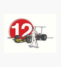 Speed Racer - Mario Andretti Art Print