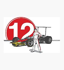 Speed Racer - Mario Andretti Photographic Print