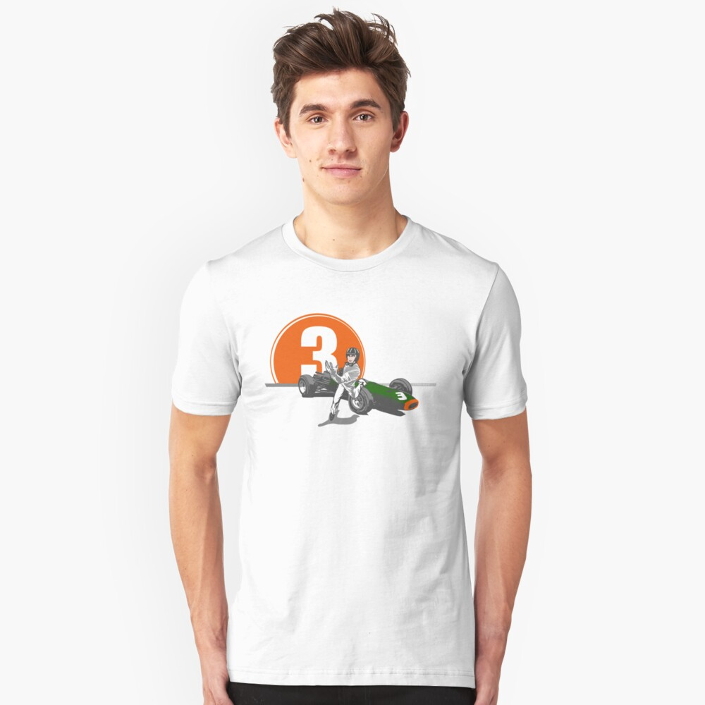 Speed Racer - Graham Hill  Slim Fit T-Shirt