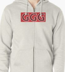 Sudadera con capucha y cremallera GGG Gennady Golovkin Red Box Logotipo