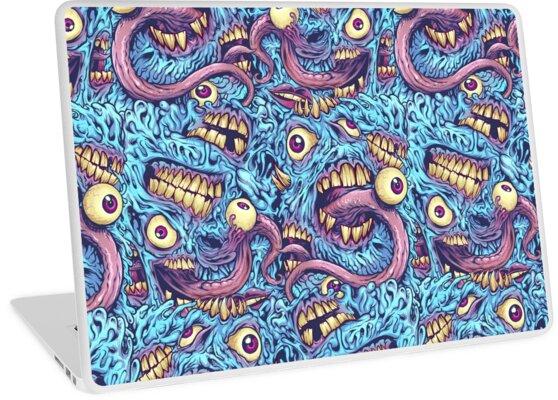 Eyeballs and Teeth Pattern by Brian Allen