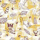 « animaux de la forêt d'automne » par michellelobelia
