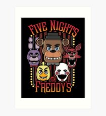 Five Nights At Freddy's Pizzeria Multi-Character Art Print