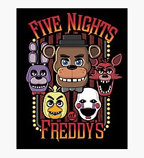 Five Nights At Freddy's Pizzeria Multi-Character Photographic Print